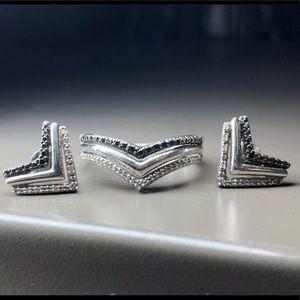 Kay Jewelers Black Diamond Set
